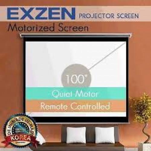 Màn chiếu điện EXZEN 110 inch